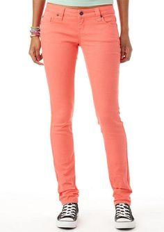 Britt Low-Rise Skinny Color Jean Sugar Coral- love so much