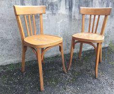 Série de 4 chaises bistrot Baumann