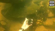 This man goes underwater treasure hunting