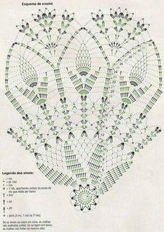 Veronica Crochet Y Tricot.: Paraguas A - Diy Crafts - Marecipe Crochet Doily Diagram, Crochet Mandala Pattern, Crochet Circles, Doily Patterns, Crochet Chart, Thread Crochet, Filet Crochet, Crochet Stitches, Crochet Patterns