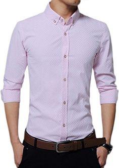 100% de qualité supérieure très convoité gamme de plusieurs couleurs Kuson Homme Chemise à Carreaux Manche Longue Coton Slim Fit ...