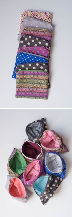 Sewing Gift Easy-to-sew zipper pouch - perfect gift for everyone! Sewing Hacks, Sewing Tutorials, Sewing Patterns, Bag Tutorials, Purse Patterns, Beginners Sewing, Dress Patterns, Fabric Crafts, Sewing Crafts