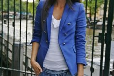 Blazers make any outfit look instantly more polished. And I love the pop of bright color!