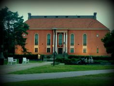 Kokkola city Theatre Lighthouses, Finland, Theatre, Mansions, House Styles, City, Places, Home Decor, Mansion Houses
