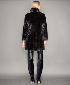 21062f63a53 The Fur Vault Three-Quarter-Length Mink Fur Coat - The Fur Vault -