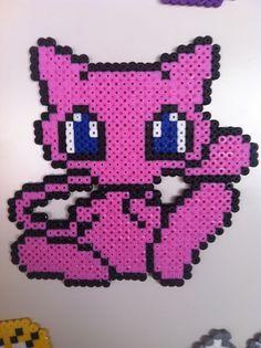 Pokemon - Mew - Hama beads perler pixel design pattern