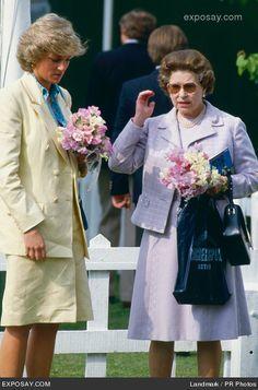 Princess Diana and Queen Elizabeth II Photo Princess Diana File Photos April 21, 1987 - Windsor, UK