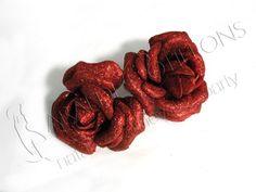 Rose glitterate rosse! Mi piacciono un sacco! :-)