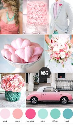 Read more Mint peach pink wedding colors palette, http://www.fabmood.com/mint-peach-pink-wedding-colors-palette/  tiffany and pink wedding colors
