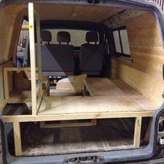"""Visible progress tonight on #VW #t4 #campervan #restoration #vwinteriors going back in"""