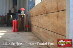 H4 Treated Pine Sleeper Retaining Wall Kiln Dried Pressure Treated