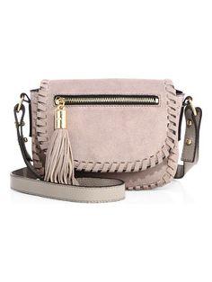 Milly Astor suede crossbody bag Nude Bags 4c31dedaf0e92