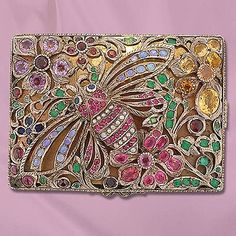 Victorian Jeweled Compact. Photo Courtesy of Lang Antiques.