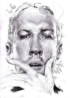 iains face drawing | Flickr - Photo Sharing! By Fishmonger