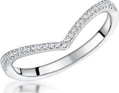 diamond wishbone wedding bands uk