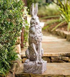 Proud Hare Garden Statue Garden Sculptures from Wind & Weather on Catalog Spree