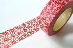 Japanese design // RED STAR Japanese Washi Tape Traditional Japanese