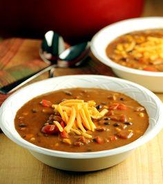 Lisa's Dinnertime Dish:  South of the Border Black Bean Soup