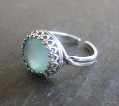 Turquoise Ring Adjustable Antique Silver Teal Aqua Ring Faux Gemstone Ring Aquamarine Blue Mint Exotic LOTR Lord of the Rings Statement Ring