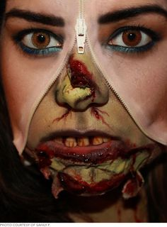 Photo Call: Halloween Makeup FX | Beautylish Practicing!! Only 3 months to go!!!