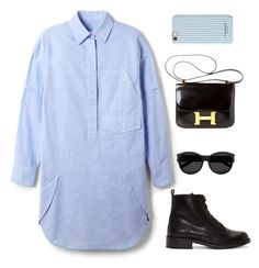 """""""I'm bored AF"""" by aliensforsale ❤ liked on Polyvore featuring Alexander Wang, Yves Saint Laurent, Hermès and Isaac Mizrahi"""