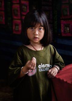 Meo Hill Tribe Girl Thailand near Chaing Mai, Thailand