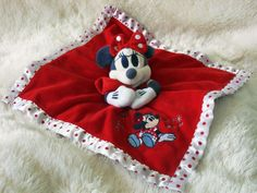 Disney Minnie Mouse Sugar and Spice Comfort Comforter Blanket Blankie Dou Dou | eBay