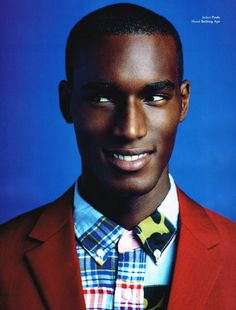 Corey Baptiste by Neil Gavin | L'Officiel Hommes Germany Fall 2013  [Silas, you mixed everything all wrong. Let me show you...]