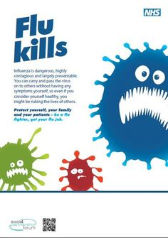 NHS Employers Flu Fighter poster  www.nhsemployers.org/flu