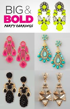 Big and Bold Party Earrings