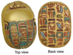 Egyptian Scarab...a powerful sign of rebirth for the Egyptians.