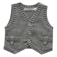 "Diy Crafts - ""boy's vest with ribbing detail \""Knitted Waistcoat\"", Not Found\"" "", ""Knitted I am making this waistcoat Baby Knitting Patterns, Baby Sweater Knitting Pattern, Knitting For Kids, Knitting Designs, Baby Patterns, Crochet Pattern, Baby Cardigan, Baby Pullover, Pullover Design"