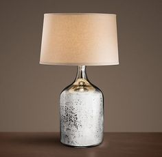 19th C. Vintage Mercury Glass Short Table Lamp -- Restoration Hardware, why must you torment me with your shiny, shiny things?