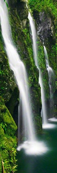 Waterfall in Hana, Maui, Hawaii