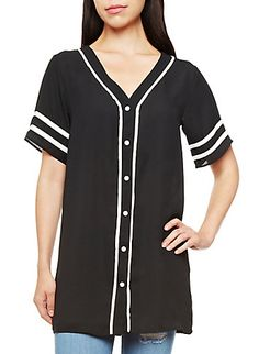 6798acca95d Button-Down Baseball Jersey. afinejanuary · Winter  Fall Fashion
