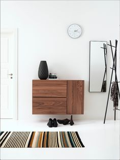 Lugano wall mounted wall system by BoConcept