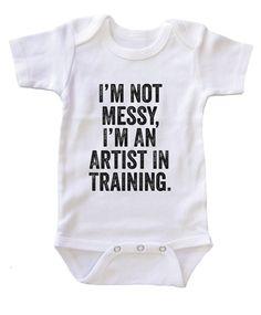 """""""I'm an Artist in Training"""" Baby Onesie / Bodysuit"""