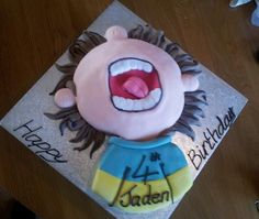 horrid henry(one of our budget cakes) 4th Birthday, Birthday Cakes, Birthday Parties, Cake Ideas, Party Time, Birthdays, Budget, Party Ideas, Baking
