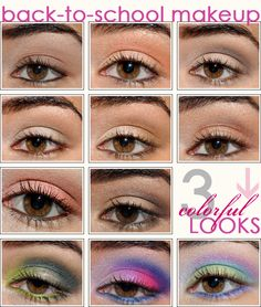 back to school makeup:) not the right ones... haha