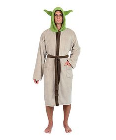 This Yoda Hooded Robe - Adult is perfect! #zulilyfinds