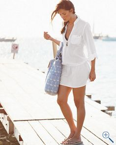 Id wear this top with jeans, a big cardigan and boots right now, adn then as a cover up in summer. Mommy And Me Swimwear, Swimwear Cover Ups, Swimsuit Cover Ups, Swim Cover, Women's Bikinis, Big Cardigan, Look Fashion, Womens Fashion, Stylish Clothes