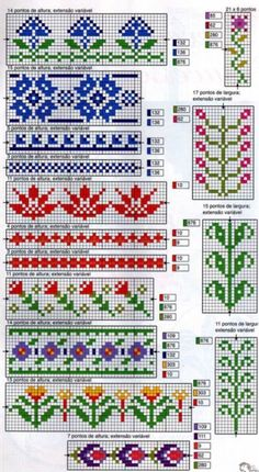 Thrilling Designing Your Own Cross Stitch Embroidery Patterns Ideas. Exhilarating Designing Your Own Cross Stitch Embroidery Patterns Ideas. Fair Isle Knitting Patterns, Fair Isle Pattern, Knitting Charts, Knitting Stitches, Knitting Designs, Cross Stitch Bookmarks, Cross Stitch Borders, Cross Stitching, Cross Stitch Embroidery
