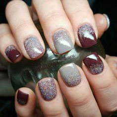 Burgundy burntorange designs fall nail palettes winter 43 gorgeous nail art designs you can try this fall prinsesfo Images