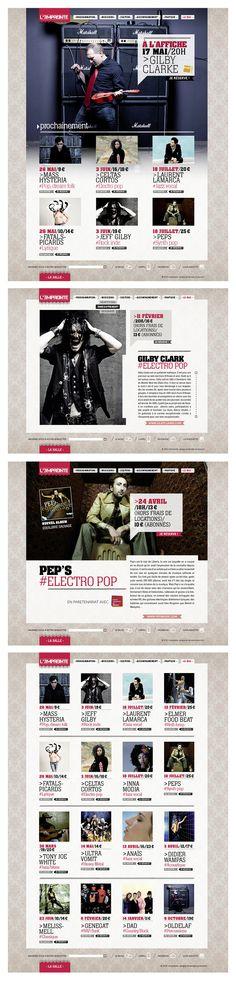 """""""L'Empreinte"""" salle de concerts/spectacles. Refonte - Site Web"""