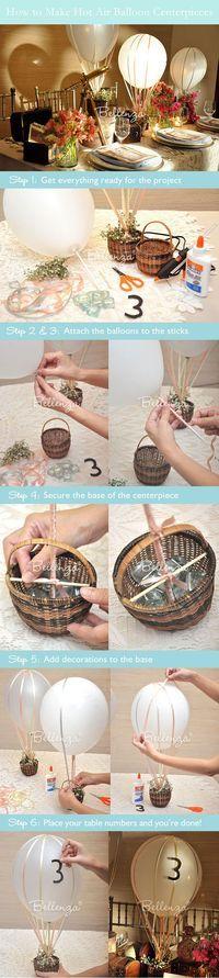 How to Make a Hot Air Balloon Centerpiece for a Wedding