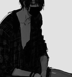 boy cool creepy cute dark gore guro guy horror hurt kawaii kuro male manga mask monochrome nice sad scary sexy shiro