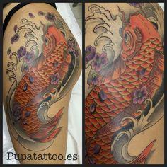 Tatuaje Carpa Japonesa Pupa Tattoo Granada