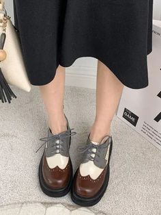 #Fall2021collection #Falloutfits #Fallcollection #FallWear #Autumnwear #fashionintrend #womenfashion #Expressyourself #autumncollection #auntumndress $157.00 $82.48 Casual Leather Shoes, Leather And Lace, Pu Leather, Look Fashion, Fashion Shoes, Badass Style, Oxford Heels, Only Shoes, All About Shoes