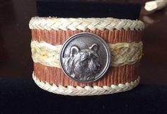 Ursa Major rawhide leather cuff, handmade