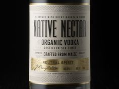 Native Nectar - Organic Vodka